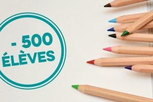 Forfait écoles (-500 élèves)